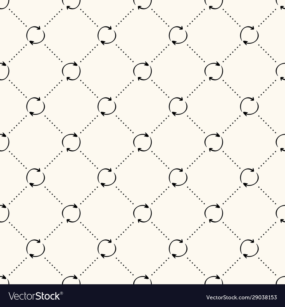 Seamless pattern with simple recycle sign