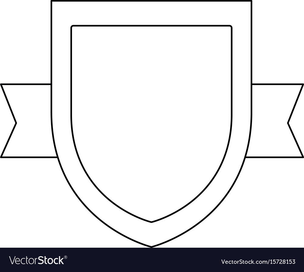 Shield badge symbol vector image