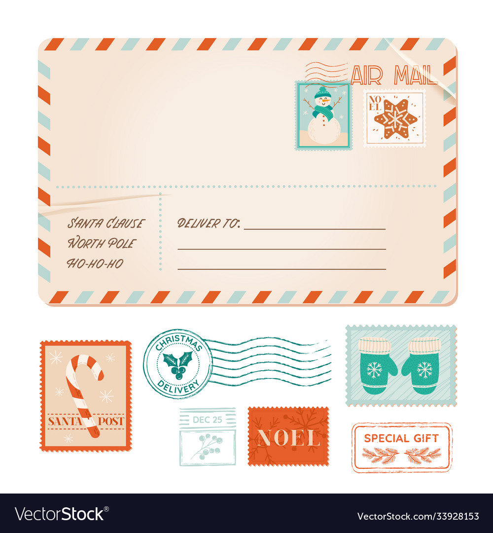 Winter old invitation postal card