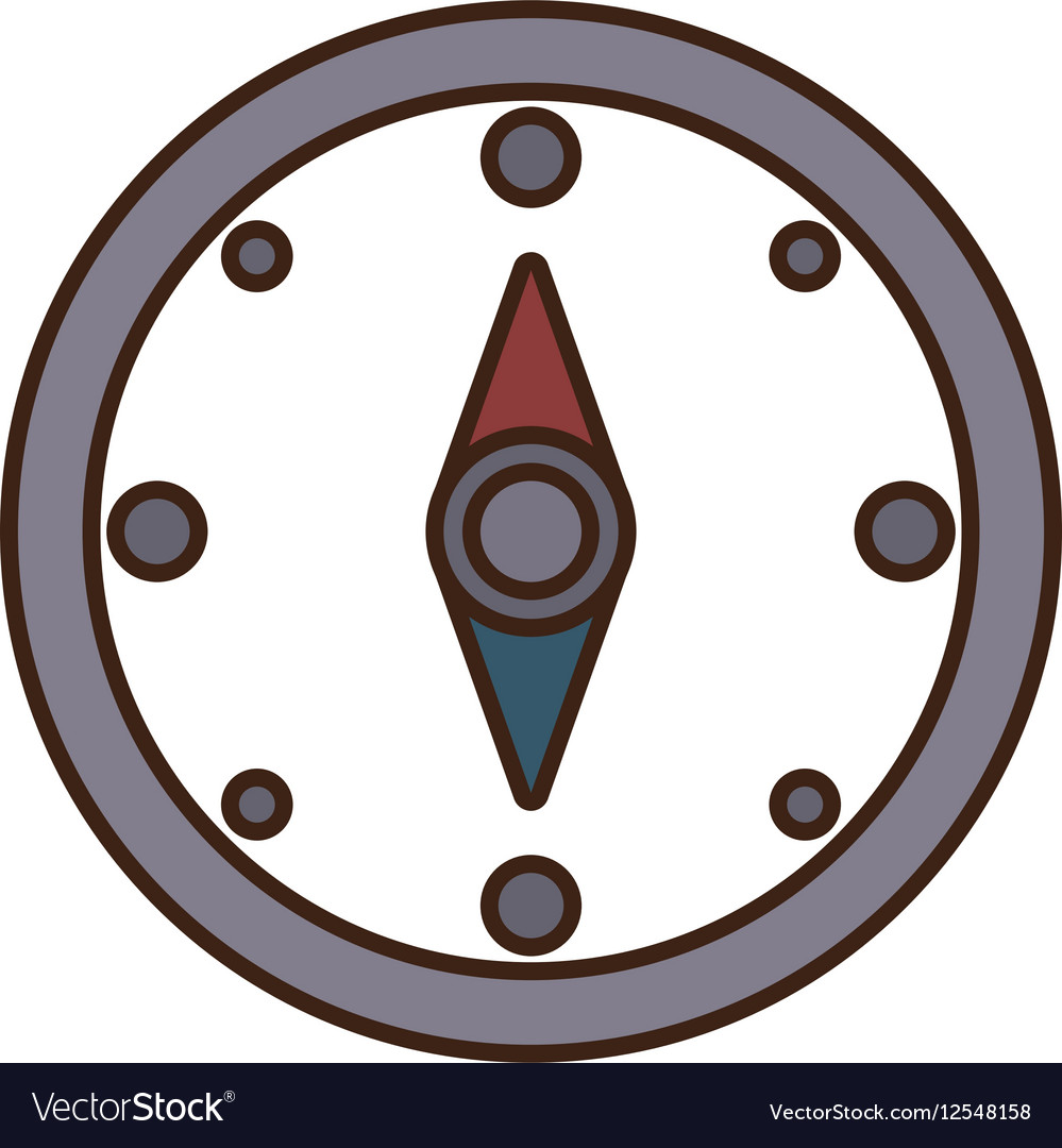 Cartoon compass location gps travel vector image