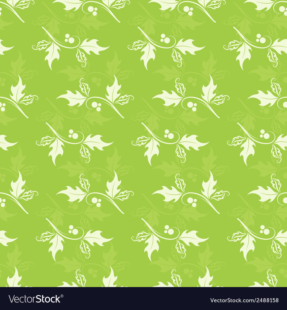 Christmas decorative pattern with holly branches