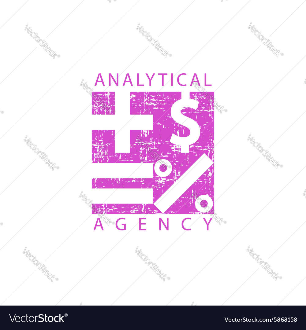 Logo analytical agency mathematical signs economy