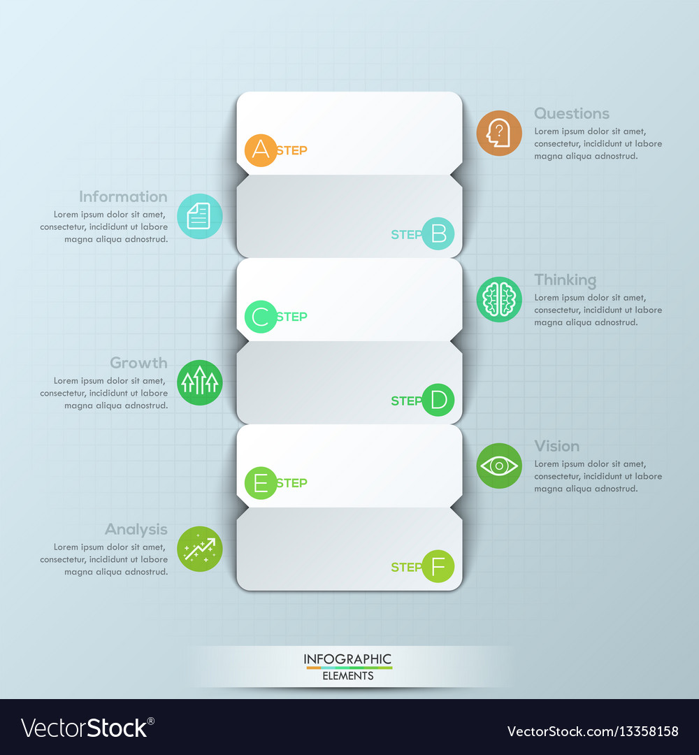 Modern infographic design template 3 double-sided