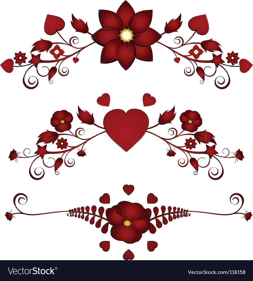 Valentine floral flourishes