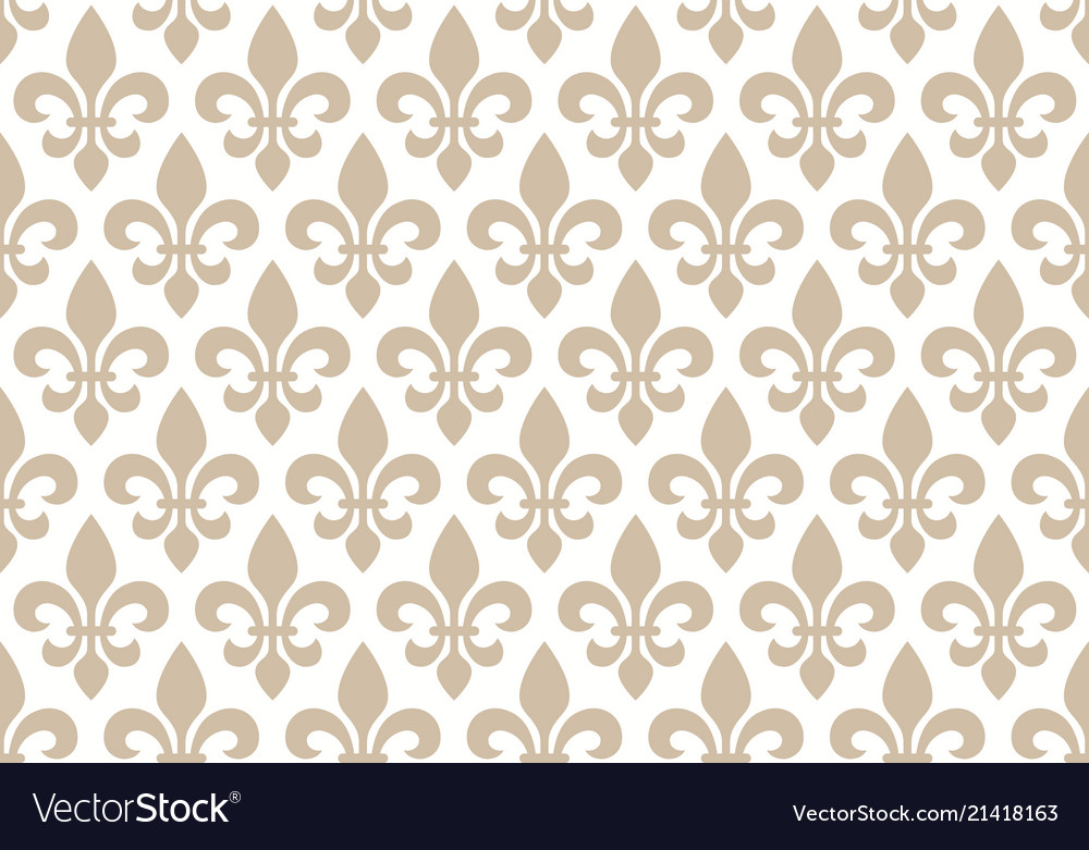 Beige and white seamless floral pattern