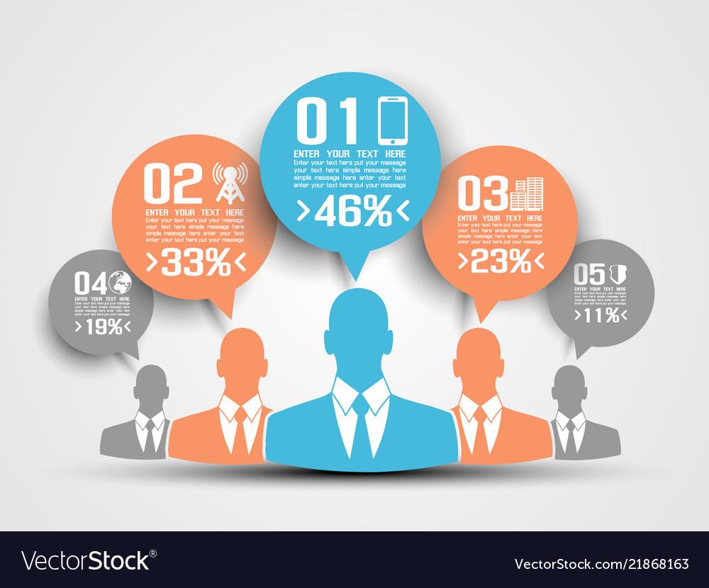 Businessman concept of five option blue