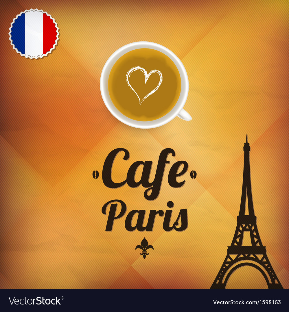 Cafe Paris Royalty Free Vector Image Vectorstock