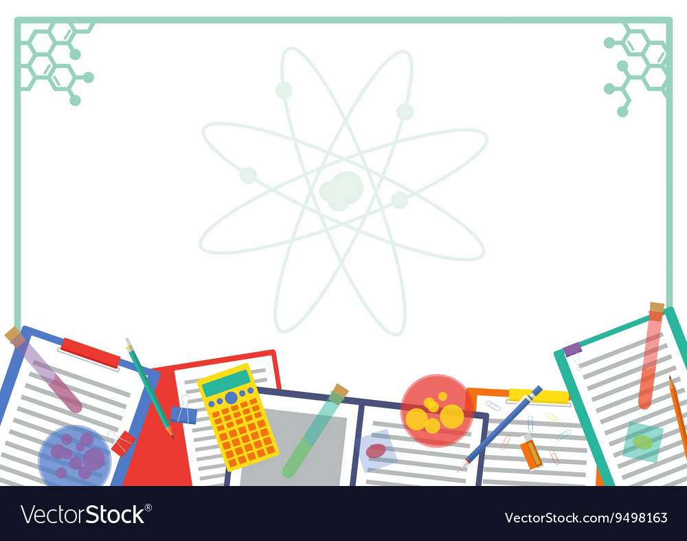 Chemistry Atom Picture and Note frame Design