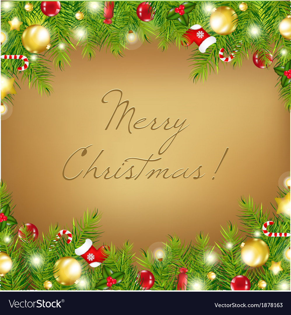 Christmas Old vector image