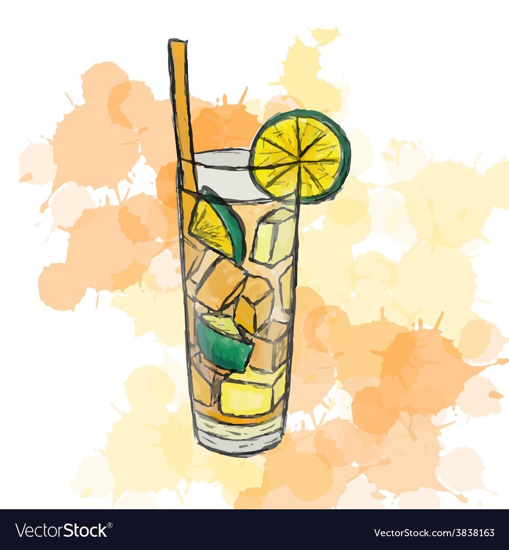 Cocktail Long Island Ice Tea vector image