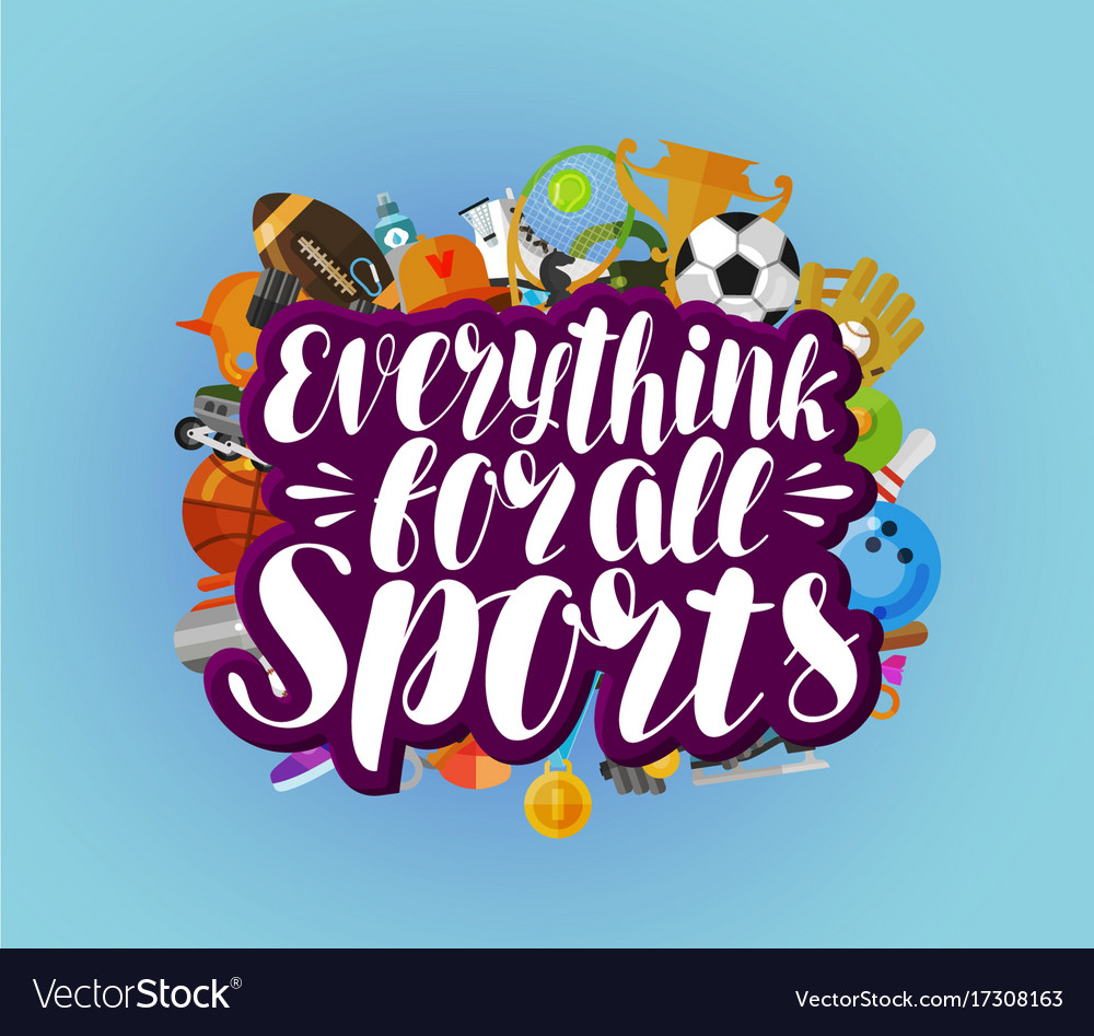 Everything for all sports banner fitness sport