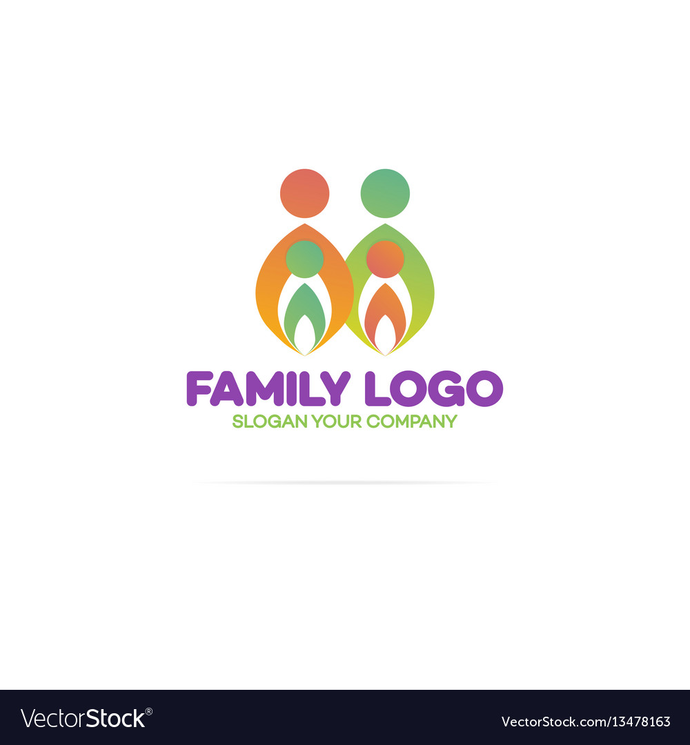 Family logo consisting of in simple figures