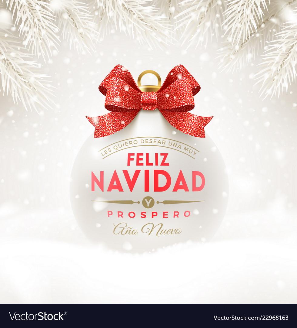 Feliz navidad - christmas greetings in spanish