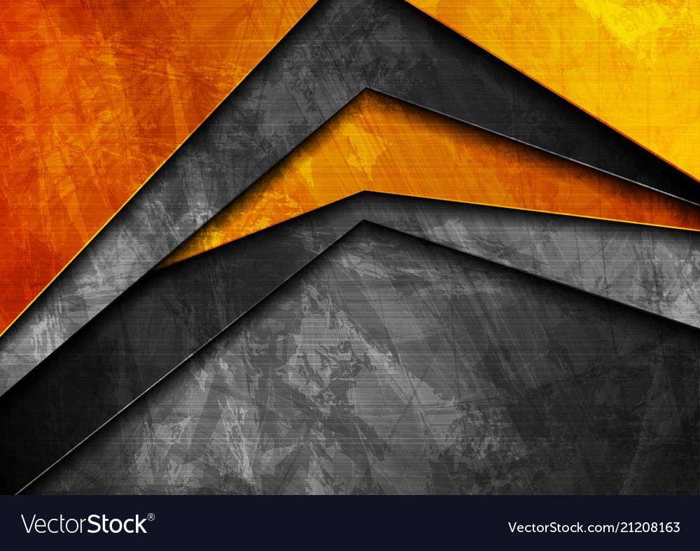 Grunge tech material orange and dark grey