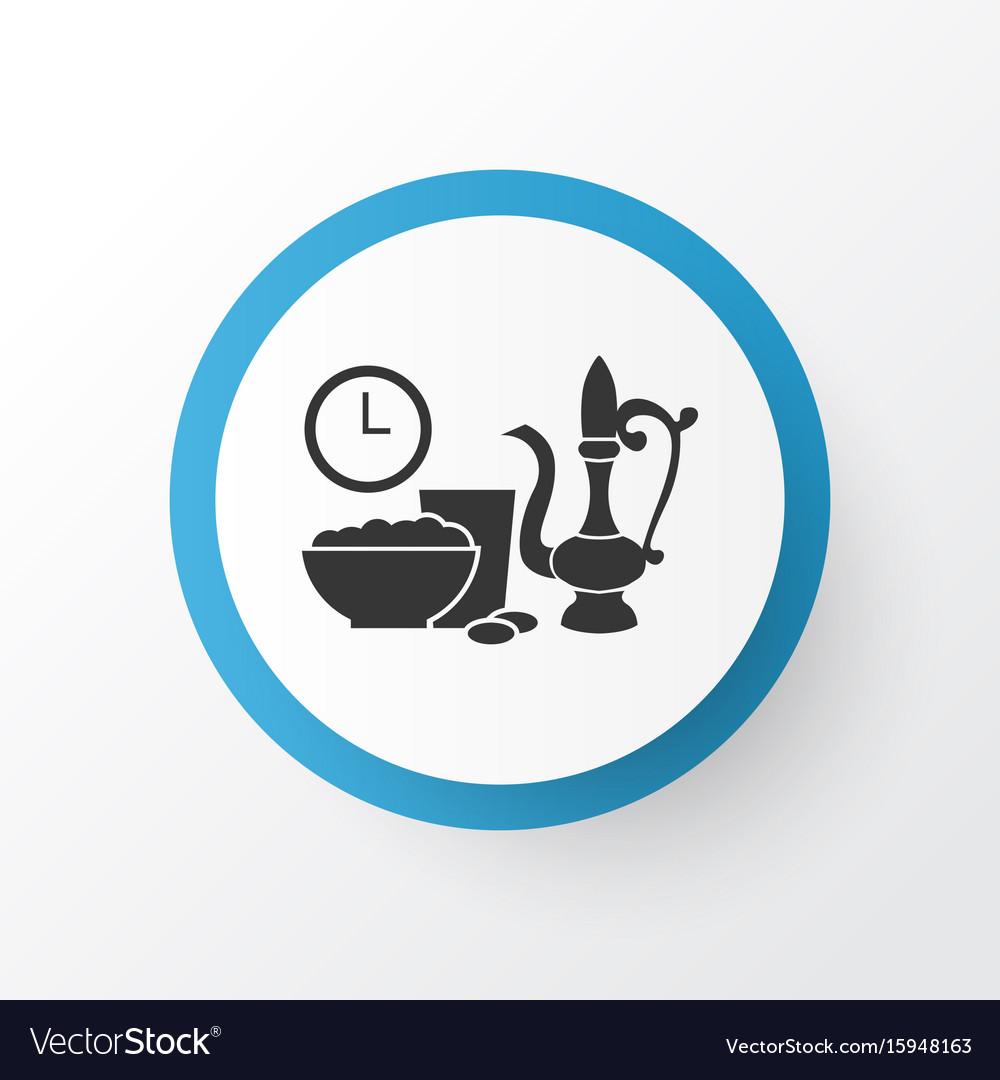 Iftar icon symbol premium quality isolated meal vector image