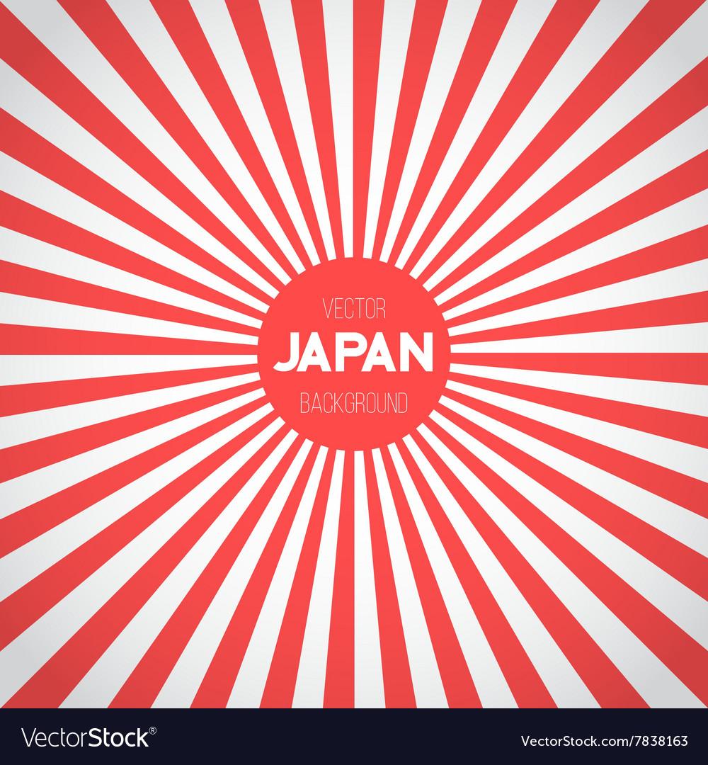 Japan Flag Background Retro Style Japan