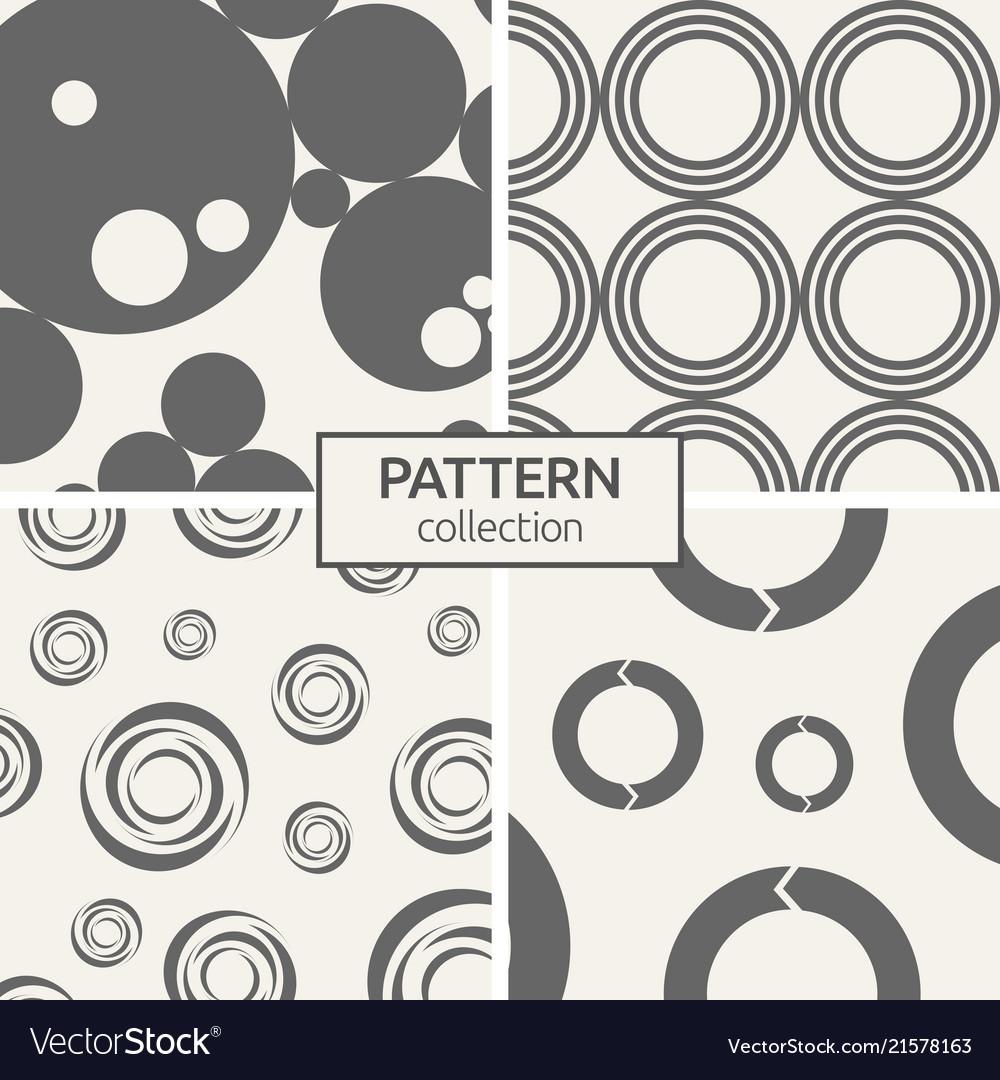 Set of four seamless patterns