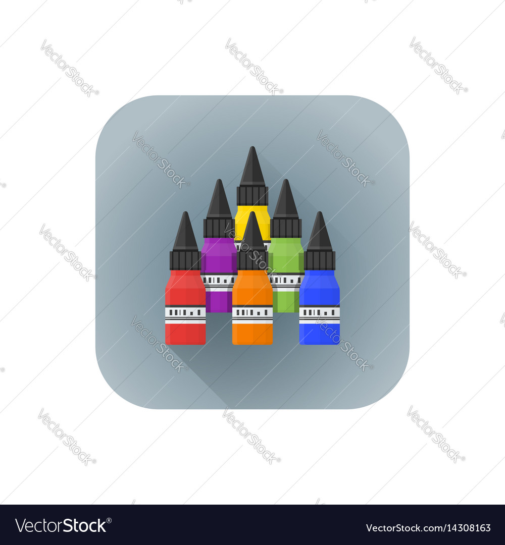 Various color tattoo inks vector image
