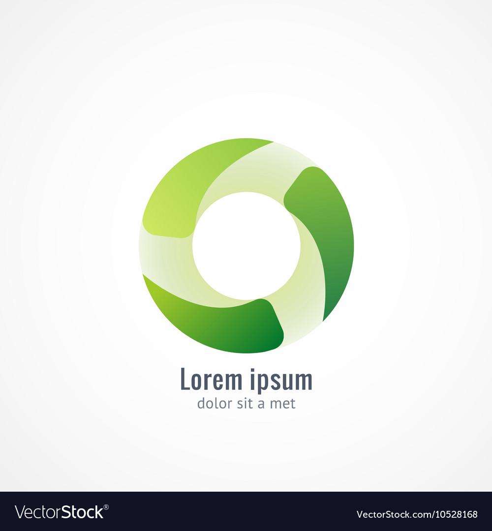 Green Eco logo icon design vector image