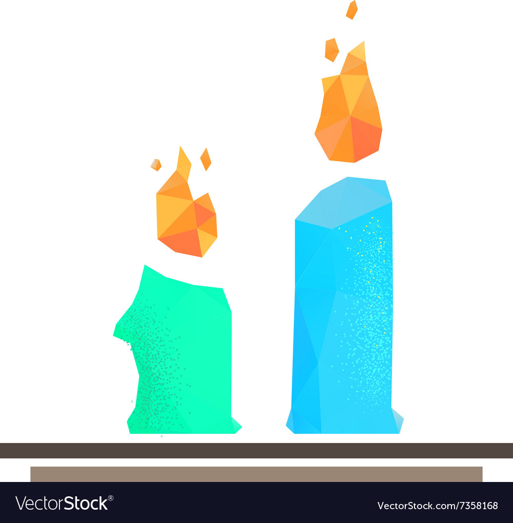 Lowpoly candles