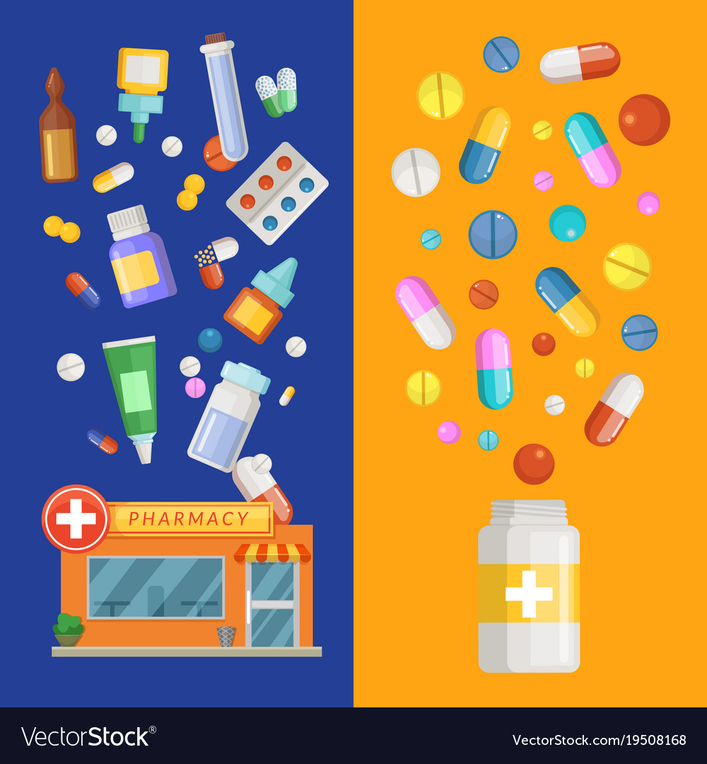 Medicines vertical banner templates with