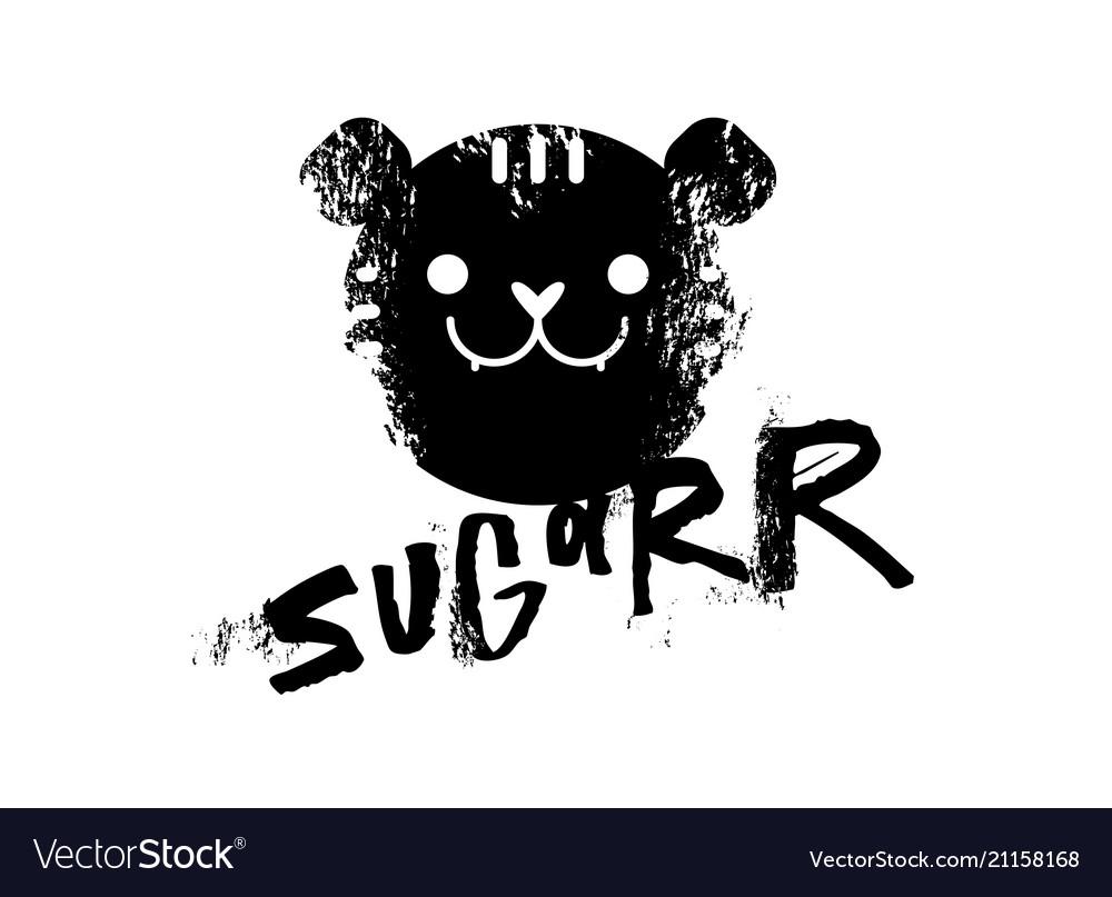 Sugar slogan graphic with tiger sign