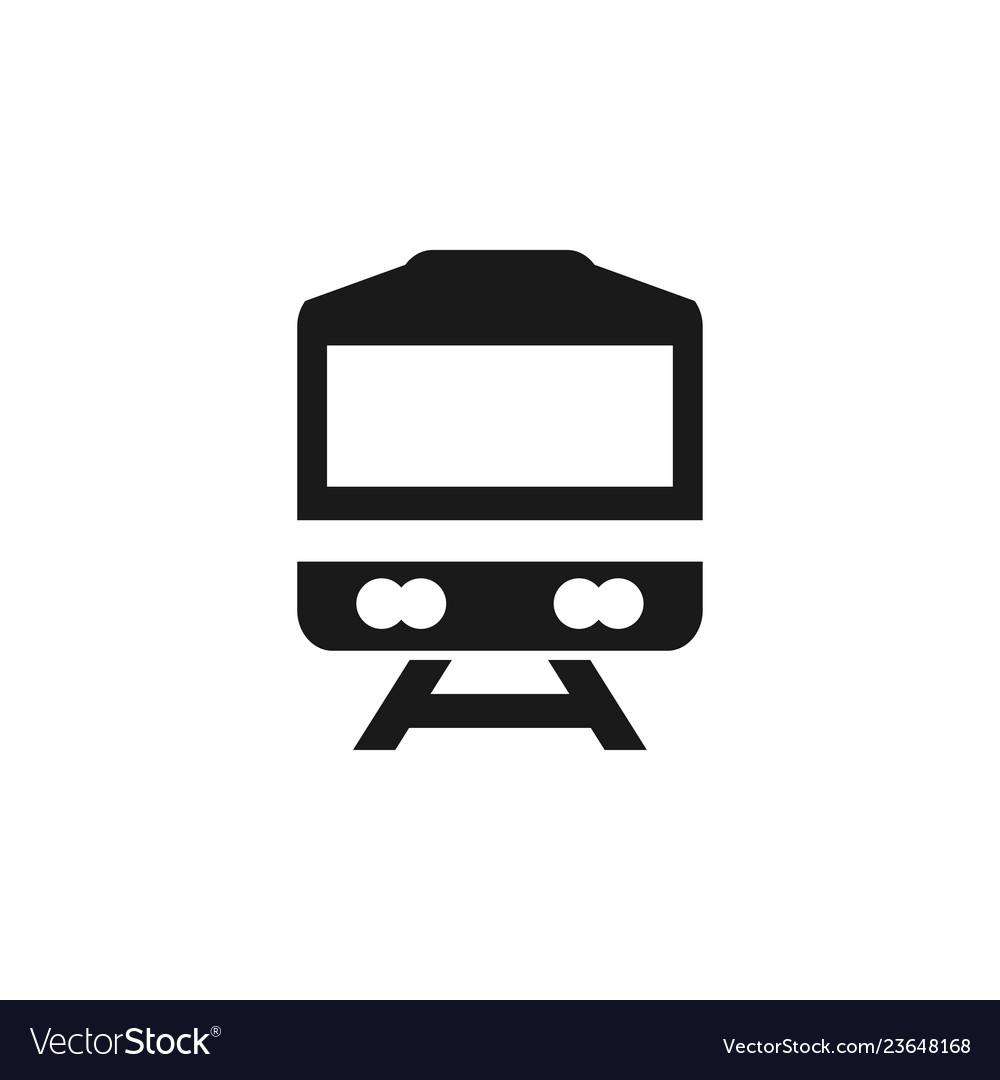Train icon graphic design template