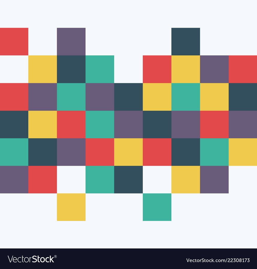 Abstract squares background template retro style