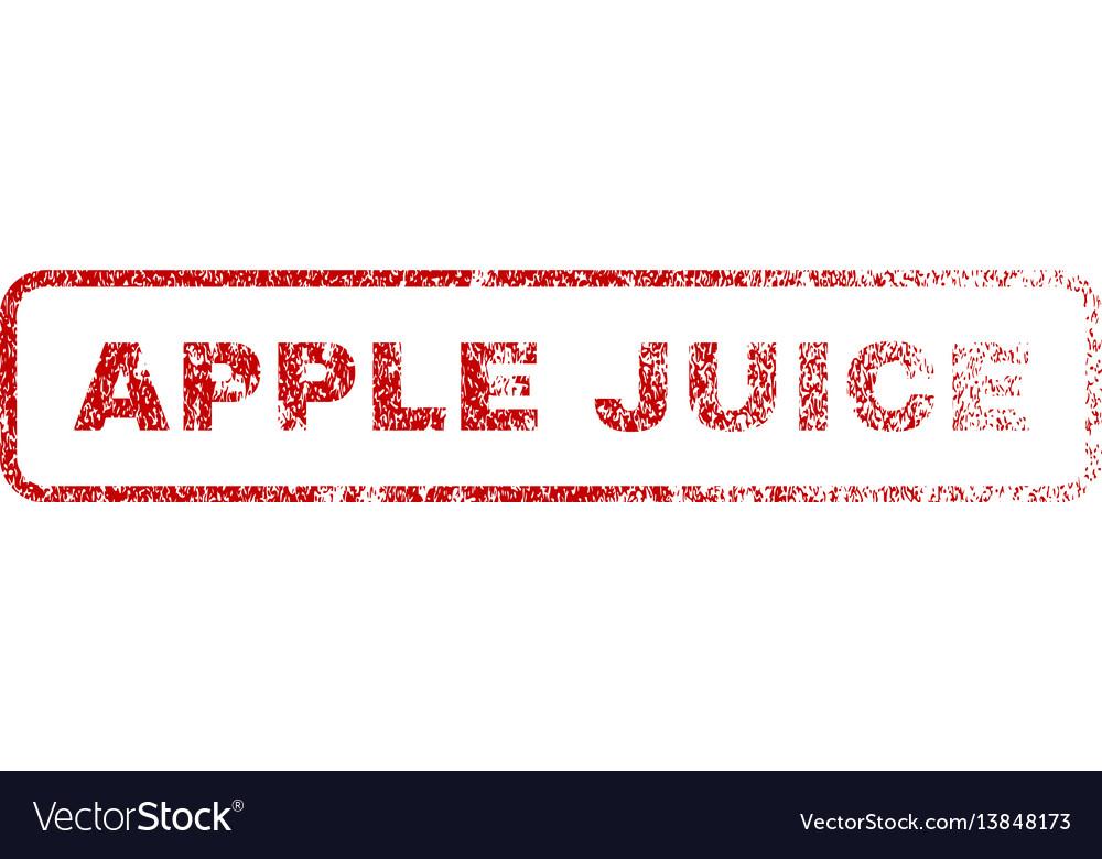 Apple juice rubber stamp