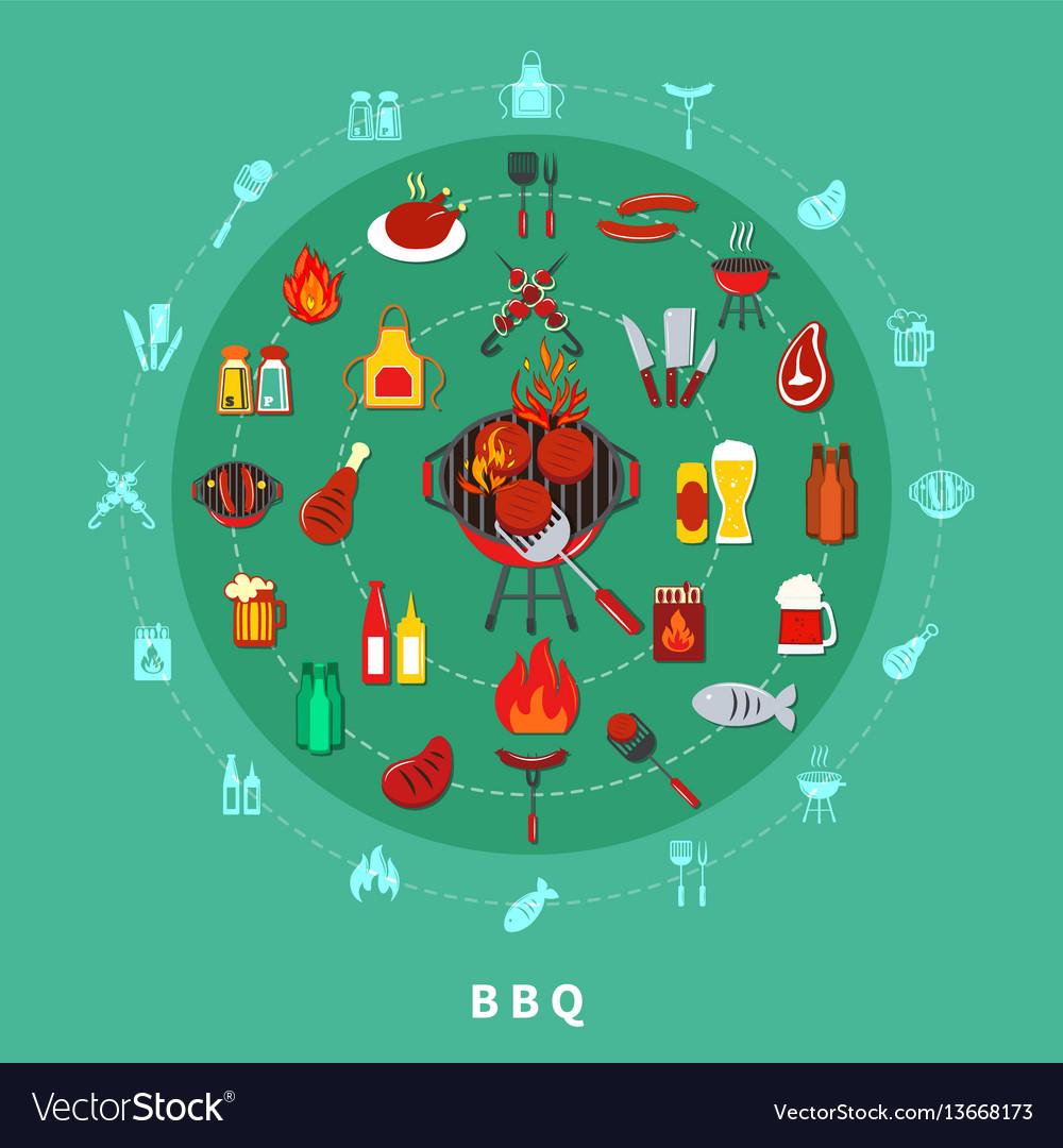 Barbecue circle composition