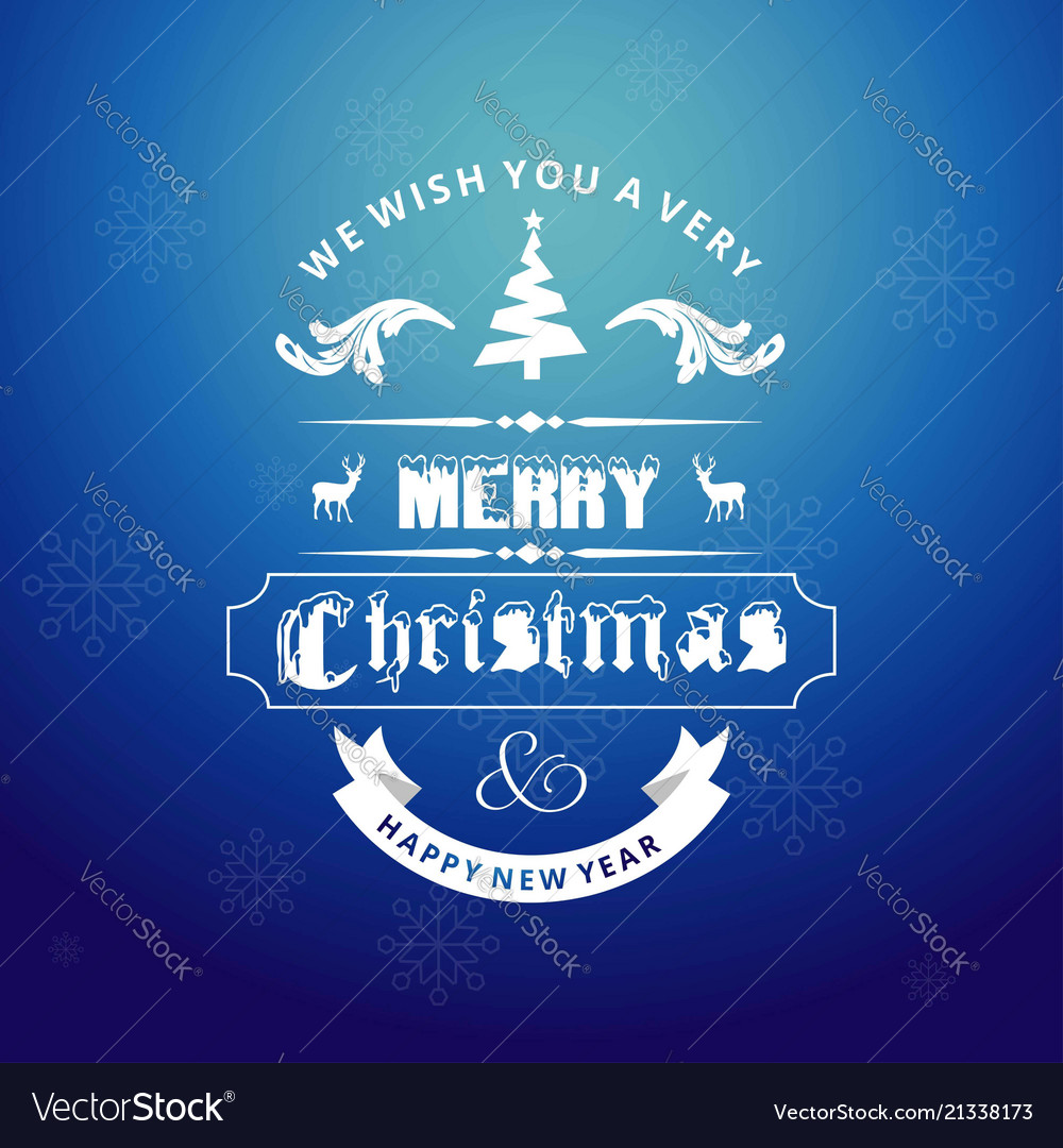Christmas greetings card with dark background and