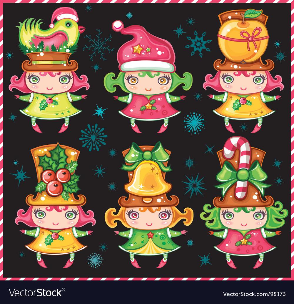 Cute Christmas girls