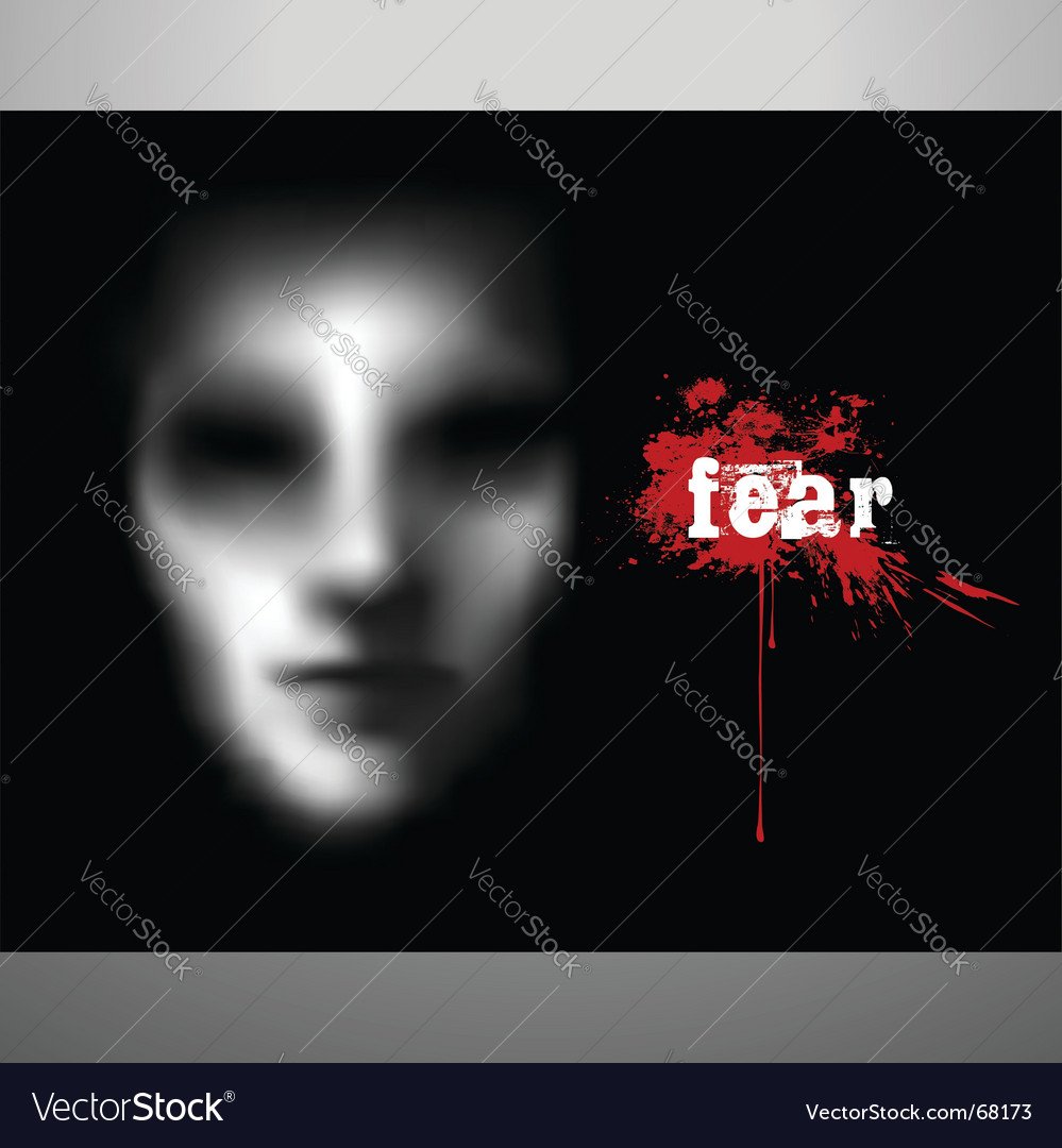 Fear vector image