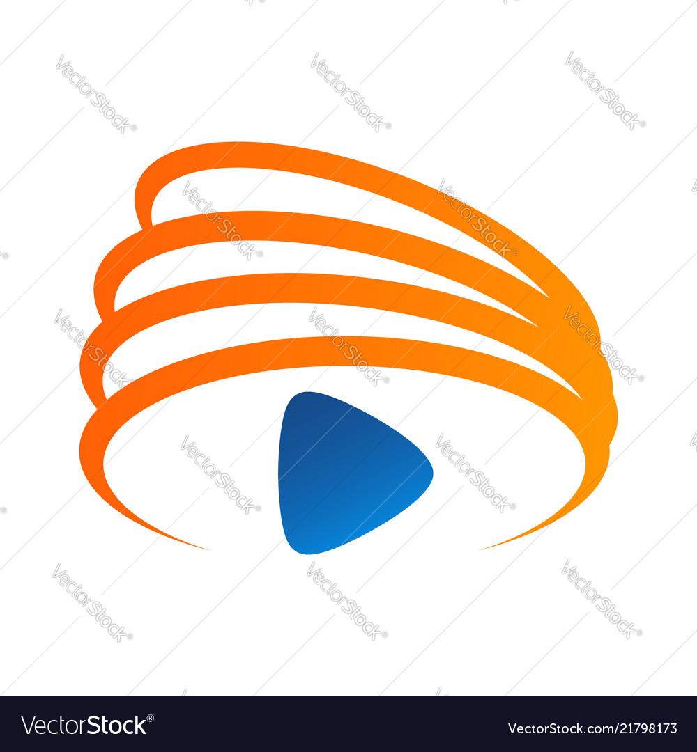 Media play logo simple modern concept logo