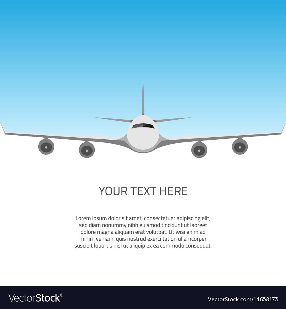 Postcard with airplane vector image