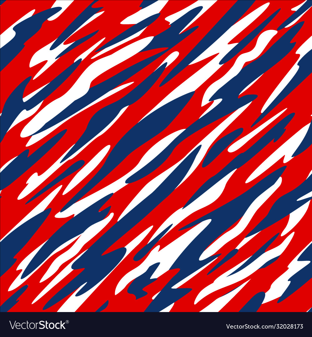 Red white and blue patriotic seamless pattern