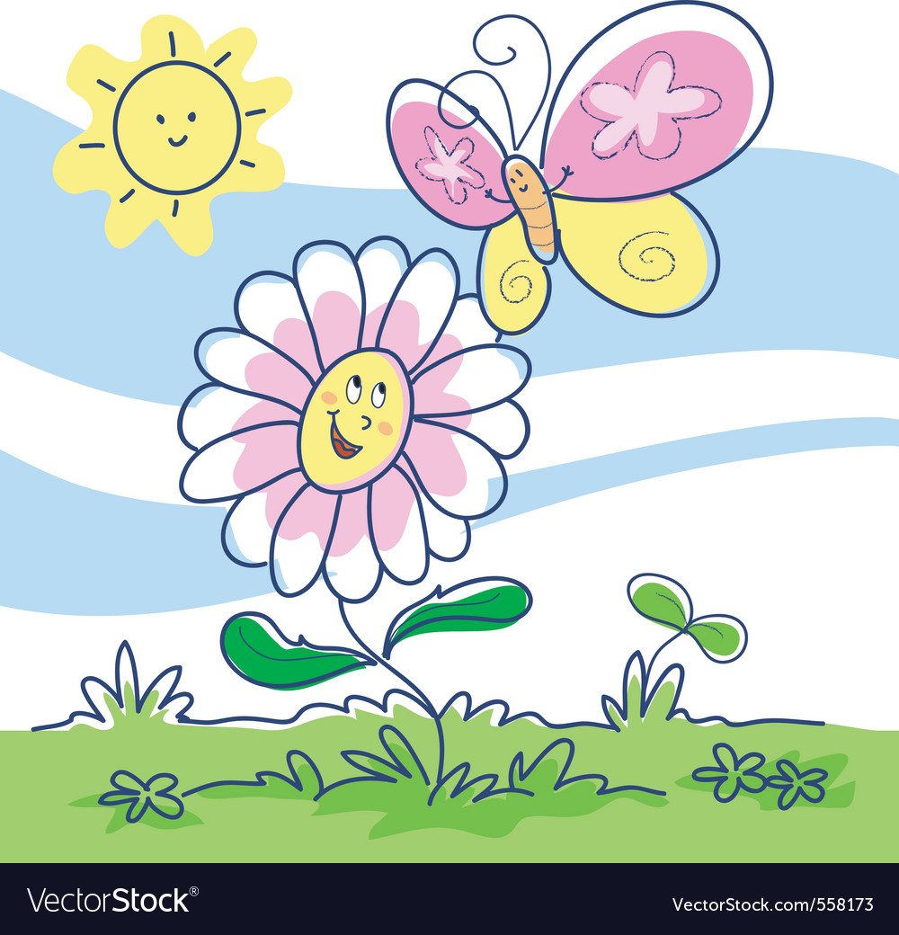 Spring cartoon vector image