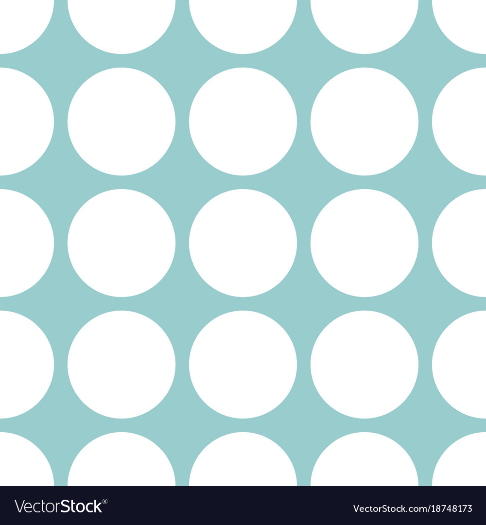 Tile pastel pattern with mint green polka dots vector image