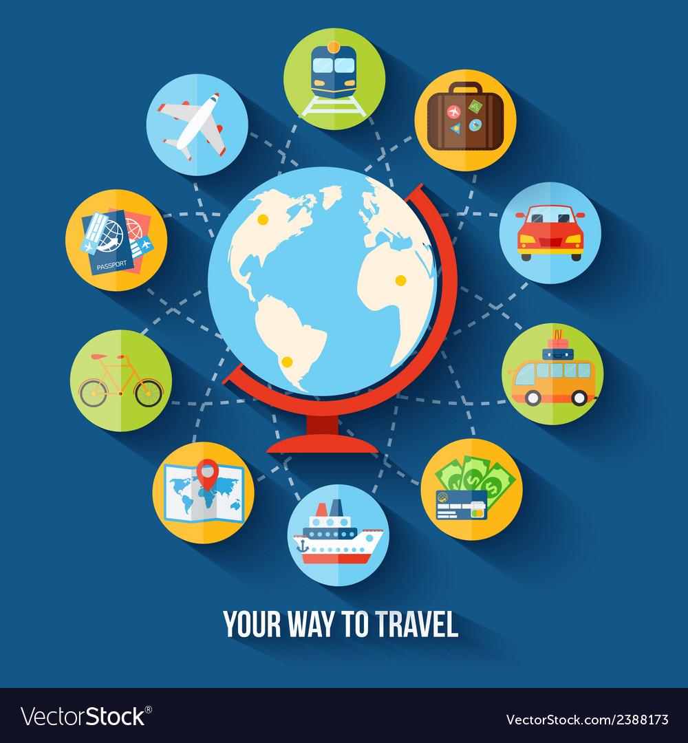 Travel flat concept