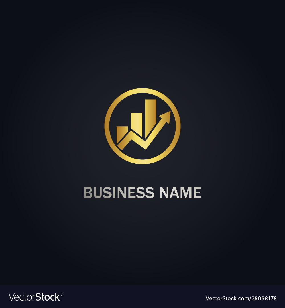 Business arrow graph logo