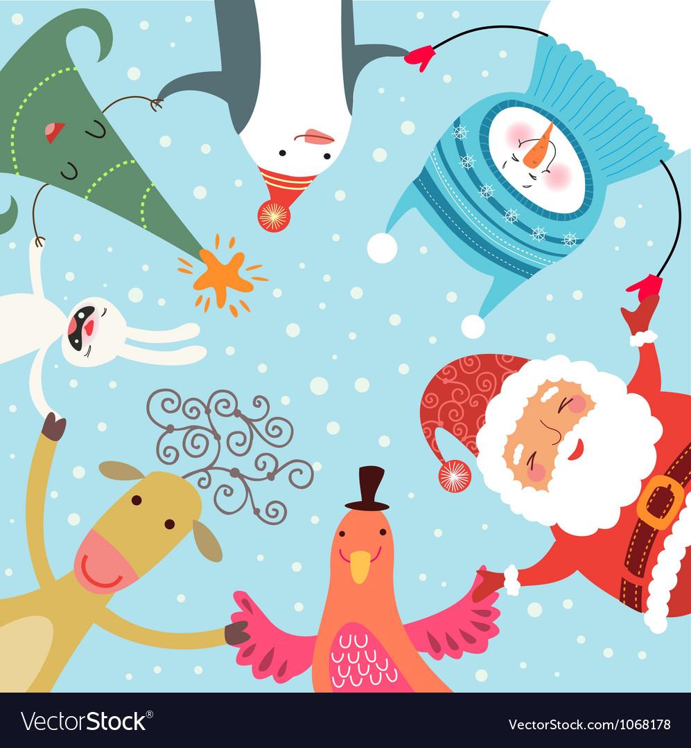 Christmas dance vector image