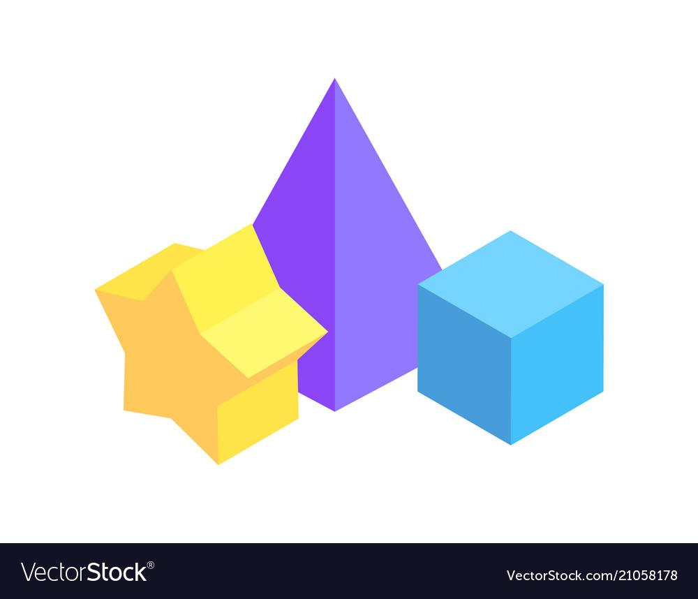 Geometric figures group color