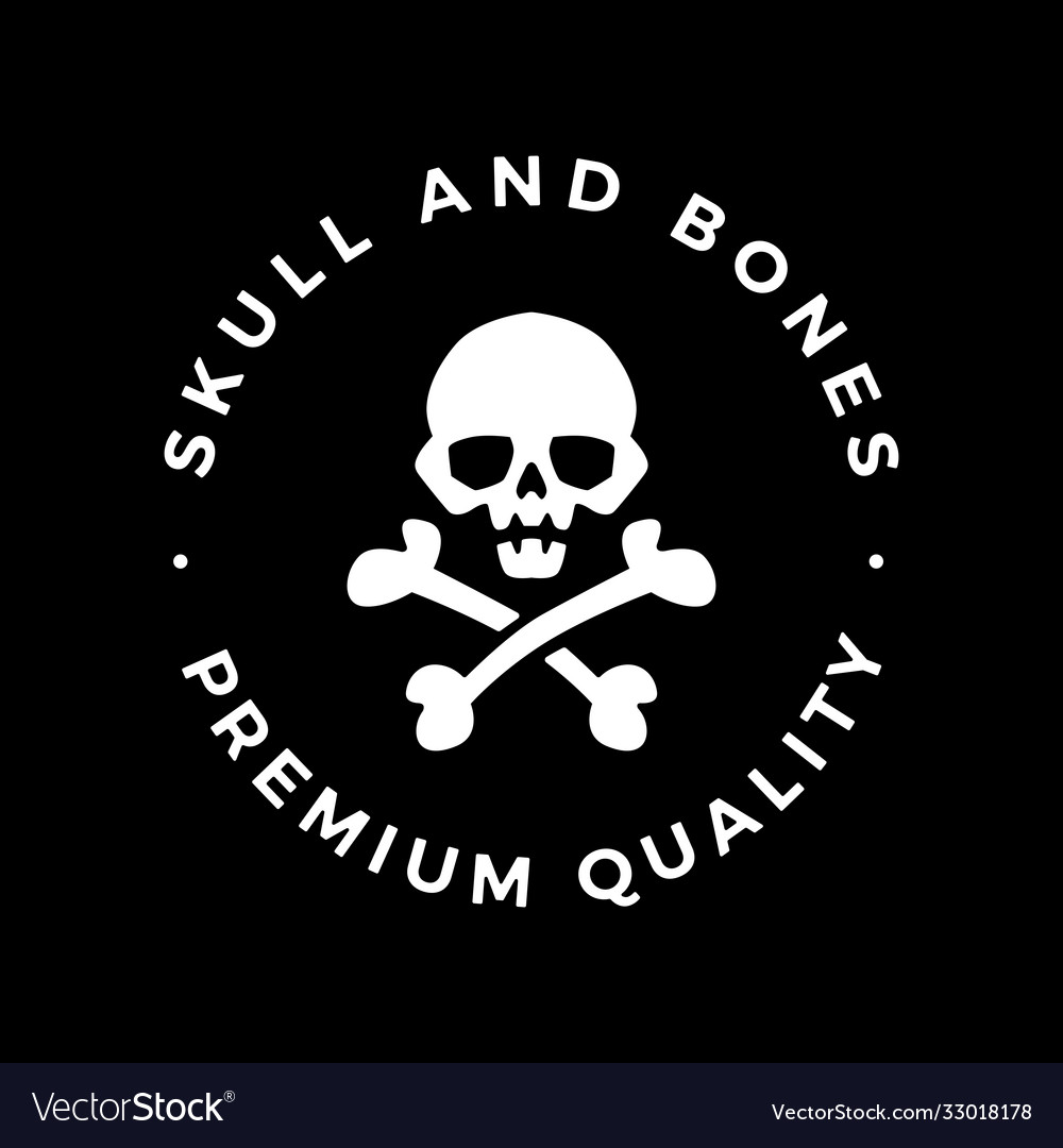 Skull and bones logo icon