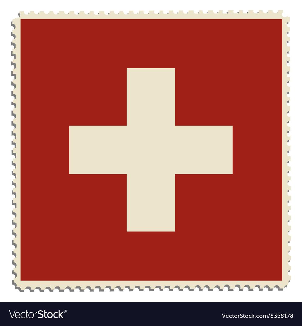 Switzerland flag post