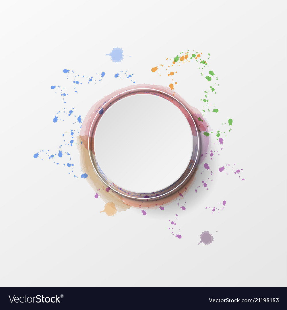 Abstract background colorful watercolor style vector image