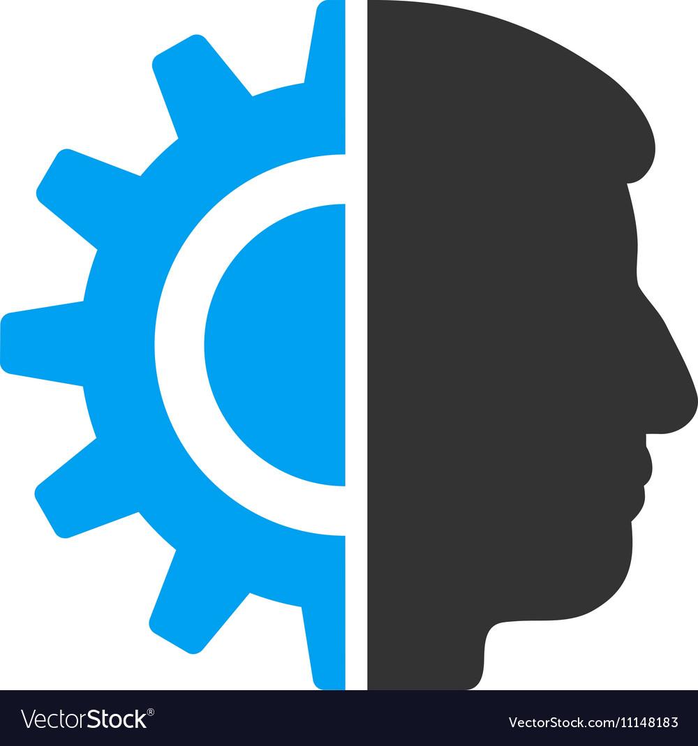 Android Robotics Flat Icon Royalty Free Vector Image