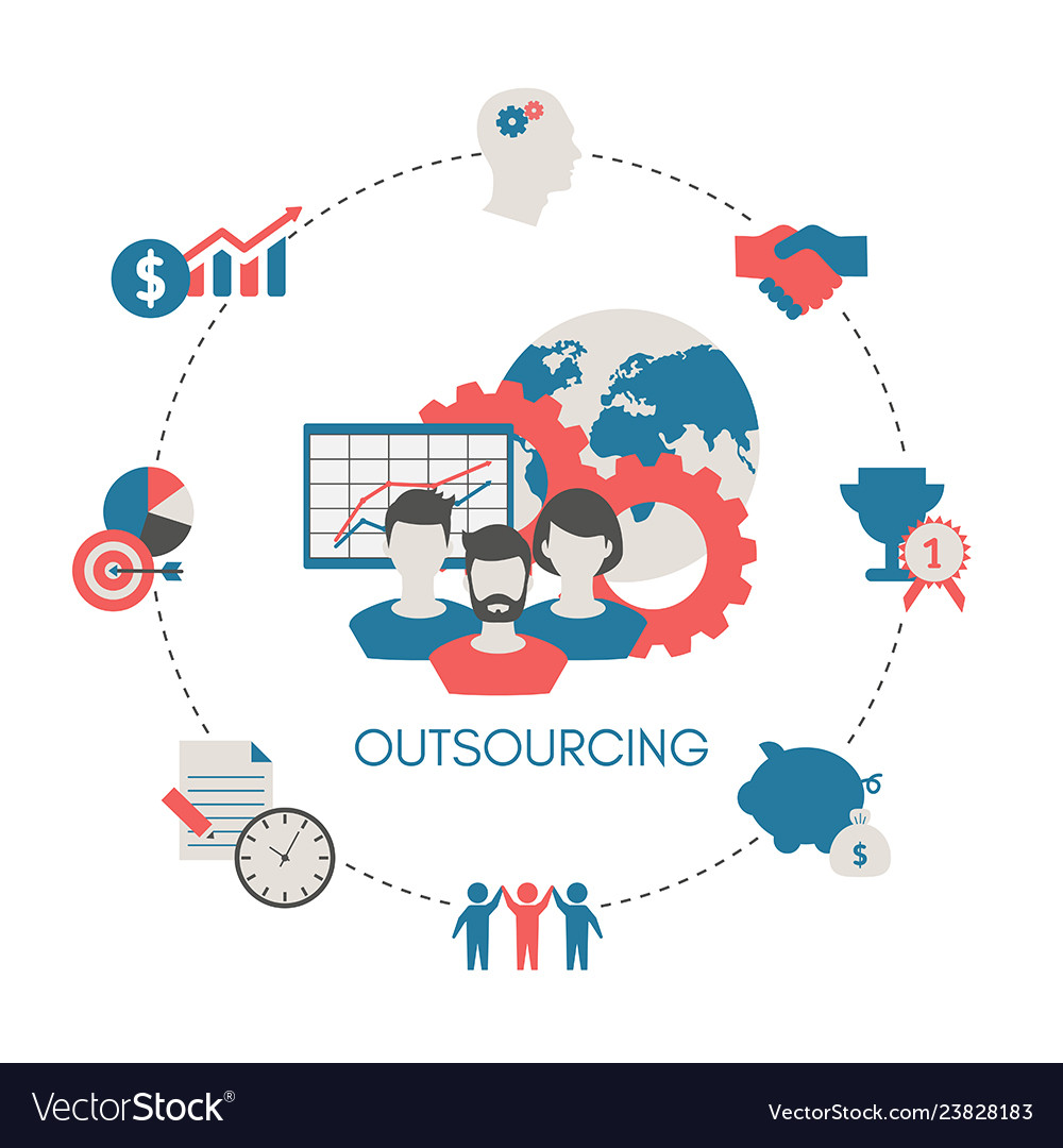 Business and outsourcing concept business and