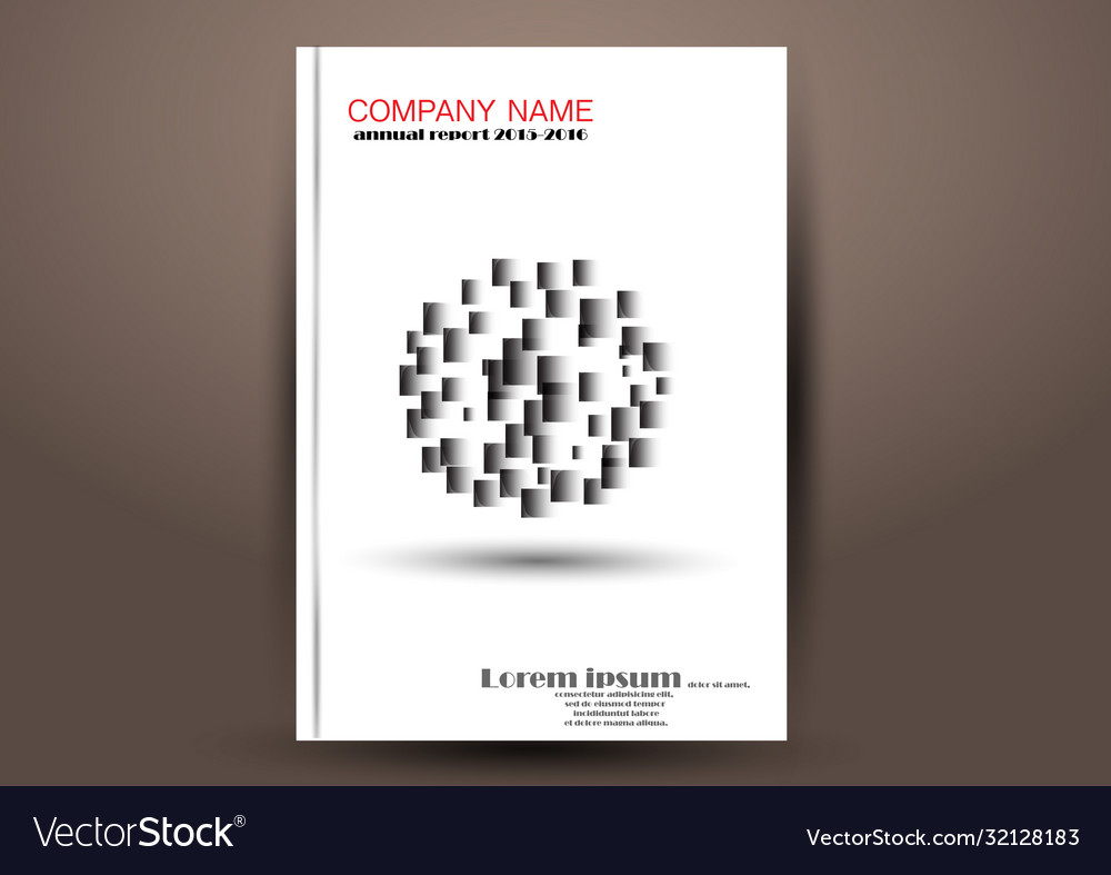 Business report cover abstract template