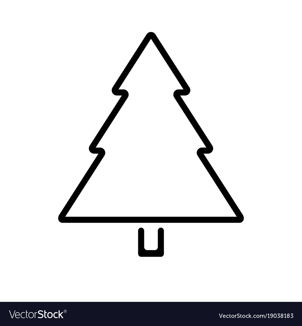 Christmas Tree Outline.Christmas Tree Outline Icon