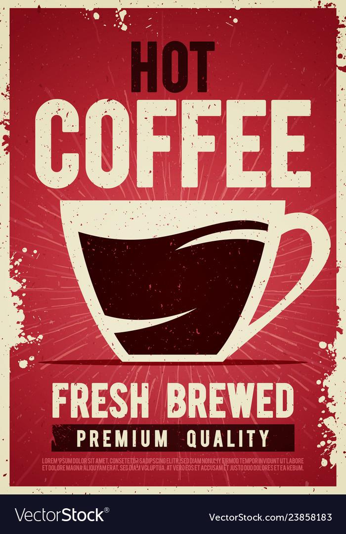 Coffee shop retro vintage poster tin sign